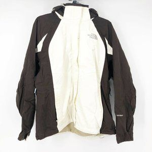 The North Face Large Brown Cream Hyvent Coat